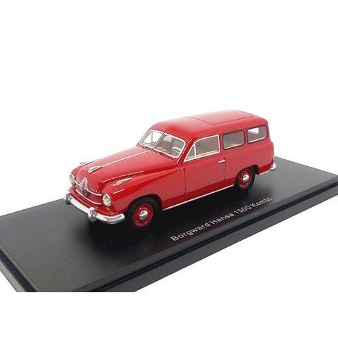 Borgward Hansa 1500 Kombi 1951 rood - Modelauto 1:43