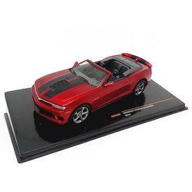 Ixo Models Chevrolet Camaro Convertible 2014 rood metallic - Modelauto 1:43