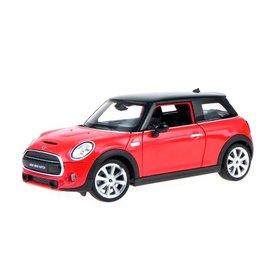 Welly Mini Cooper S 2014 rood - Modelauto 1:24