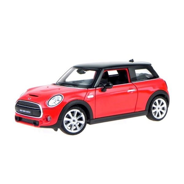 Modelauto Mini Cooper S 2014 rood 1:24