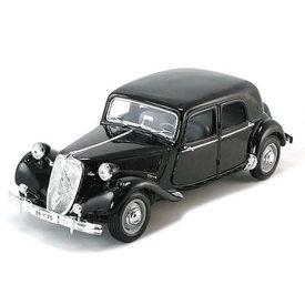 Maisto Citroën Traction Avant 15 Six 1952 zwart - Modelauto 1:18