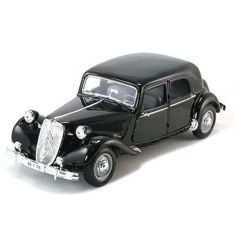 Citroën Traction Avant 15 Six 1952 zwart - Modelauto 1:18