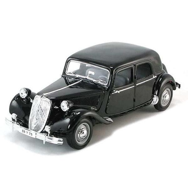 Modelauto Citroën Traction Avant 15 Six 1952 zwart 1:18
