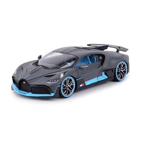 Bugatti Divo 2018 matt grey / light blue - Model car 1:18