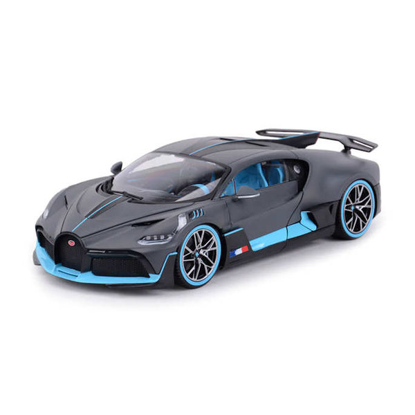 Model car Bugatti Divo 2018 matt grey / light blue 1:18