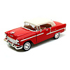 Modelauto Chevrolet Bel Air Closed Convertible 1955 rood 1:18