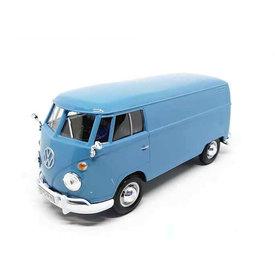 Motormax Modelauto Volkswagen T1 type 2 Transporter lichtblauw 1:24