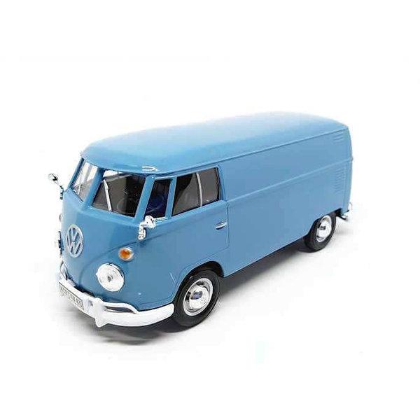 Model car Volkswagen T1 type 2 Delivery Van light blue 1:24 | Motormax