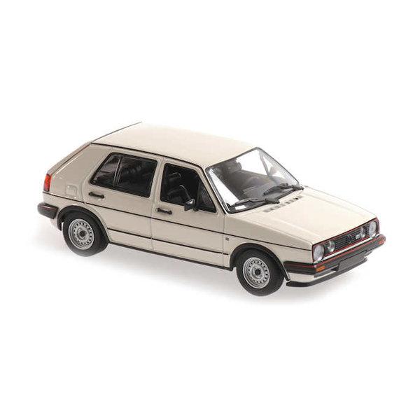 Modelauto Volkswagen Golf GTI 1985 wit 1:43