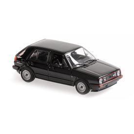 Maxichamps | Modelauto Volkswagen Golf GTI 1985 zwart 1:43