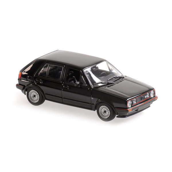 Modelauto Volkswagen Golf GTI 1985 zwart 1:43