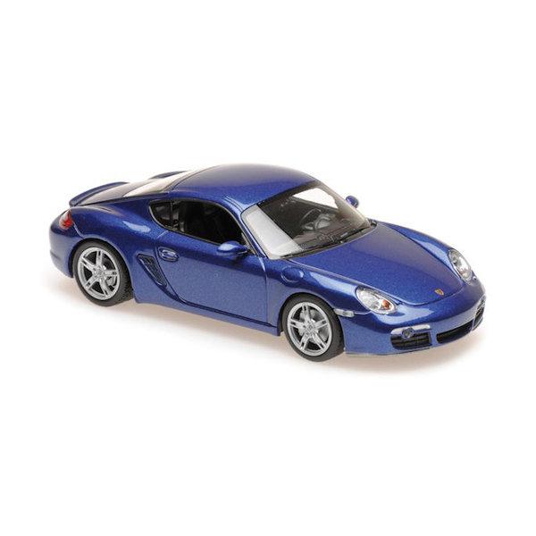 Modelauto Porsche Cayman S 2005 blauw metallic 1:43