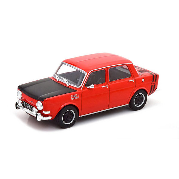 Model car Simca 1000 Rally 2 1970 red / black 1:24