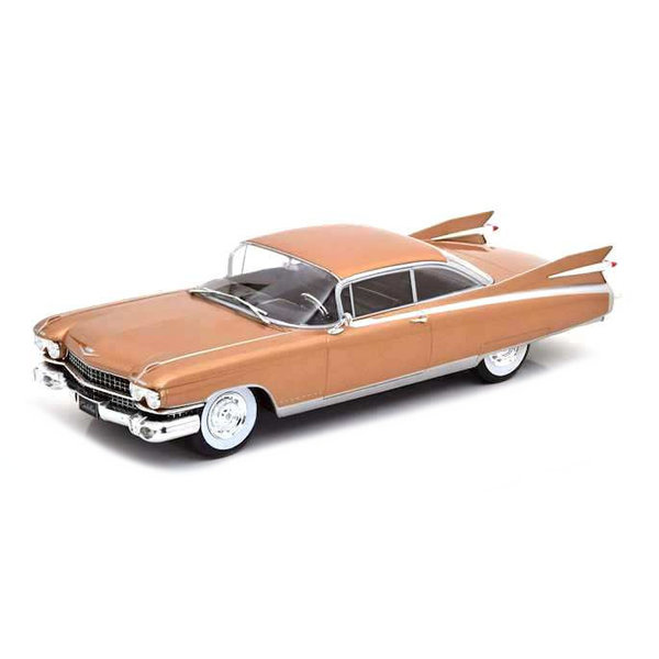 Model car Cadillac Eldorado 1959 light brown metallic 1:24   WhiteBox
