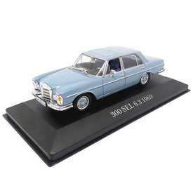 Ixo Models Mercedes Benz 300 SEL 6.3 (W109) 1968 lichtblauw - Modelauto 1:43
