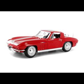 Maisto Chevrolet Corvette 1965 rood - Modelauto 1:18