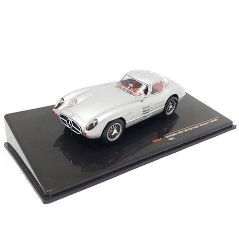 Mercedes Benz 300 SLR Coupe 'Uhlenhout' (W196S) 1955 zilver - Modelauto 1:43