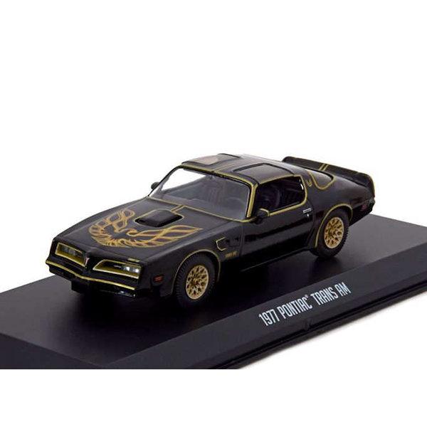 Modelauto Pontiac Firebird Trans Am 1977 zwart/goud 1:43