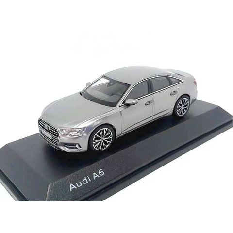 Audi A6 C8 Saloon 2018 Taifungrau - Modellauto 1:43