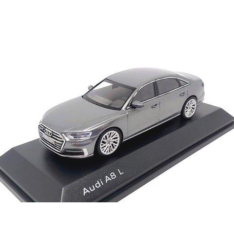 Model car Audi A8 L 2017 Monsun grey 1:43
