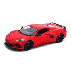 Maisto Chevrolet Corvette Stingray 2020 rood - Modelauto 1:18