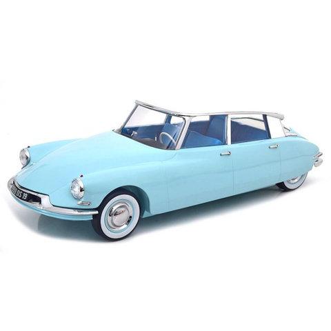 Citroën DS 19 1956 lichtblauw / wit - Modelauto 1:12