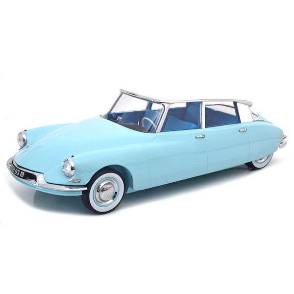 Modelauto Citroën DS 19 1959 lichtblauw / wit 1:12