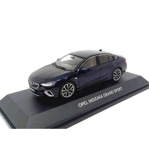 Opel Insignia Grand Sport 2017 donkerblauw - Modelauto 1:43
