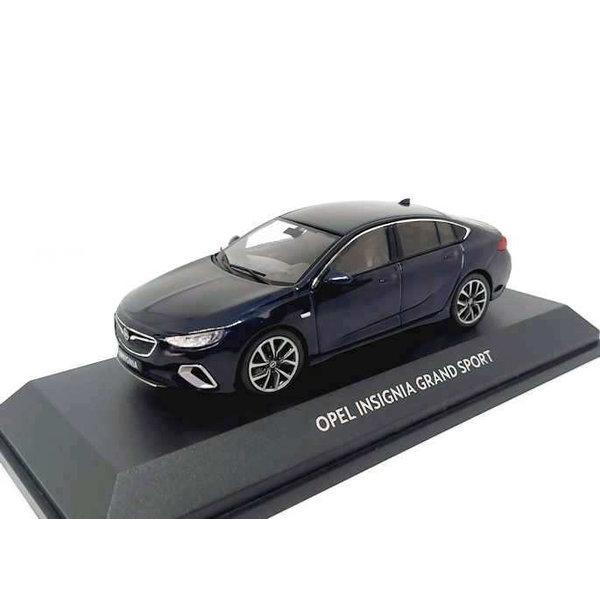 Model car Opel Insignia Grand Sport 2017 dark blue 1:43 | iScale