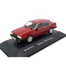 Atlas Volvo 740 Turbo 1984 dark red - Model car 1:43