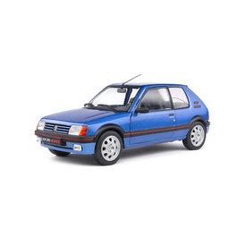 Solido Peugeot 205 GTI 1.9 Mk 1 1988 blauw metallic - Modelauto 1:18