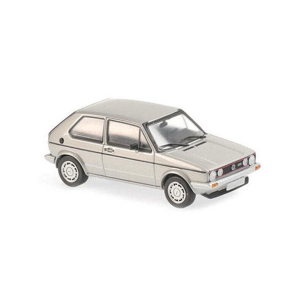 Model car Volkswagen Golf GTI 1983 silver metallic 1:43 | Maxichamps