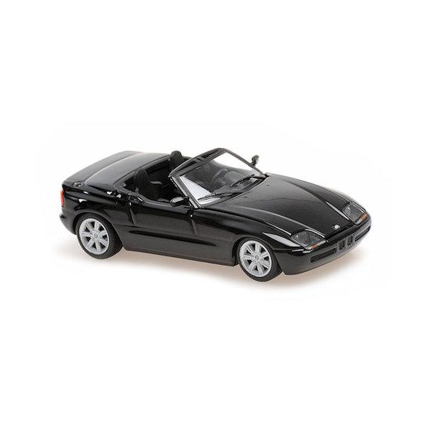 Model car BMW Z1 (E30) 1991 black metallic 1:43   Maxichamps