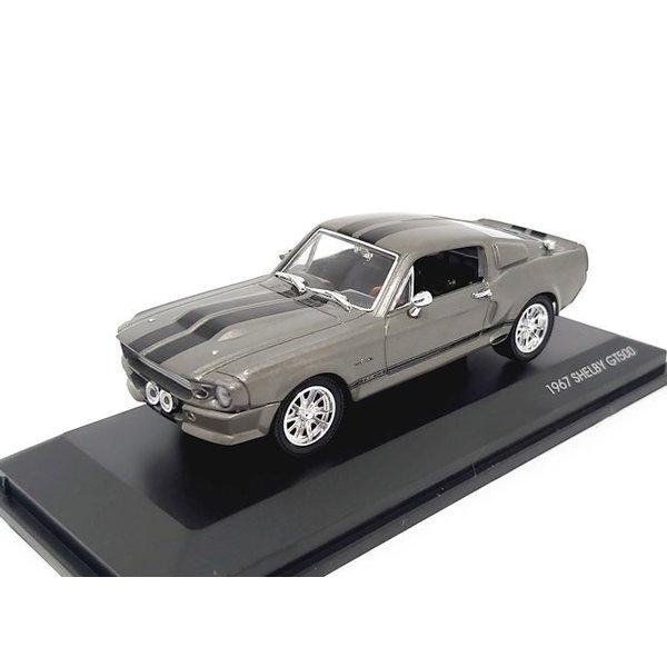 Modelauto Shelby Ford Mustang GT500 1967 grijs metallic 1:43