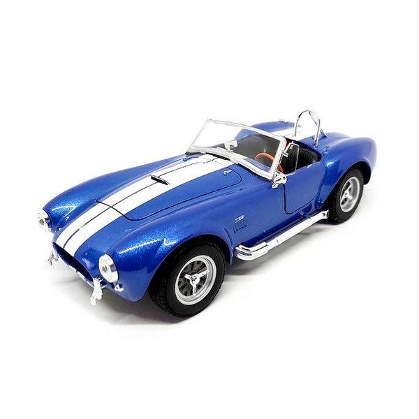 Modelauto Shelby Cobra 427 S/C 1965 blauw 1:24