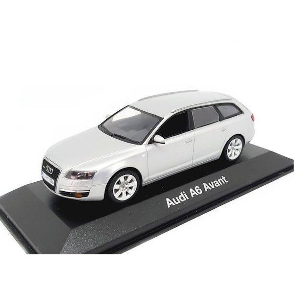 Model car Audi A6 Avant 2004 silver 1:43   Minichamps