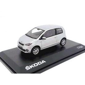 Abrex Skoda Citigo 3-deurs  zilver - Modelauto 1:43