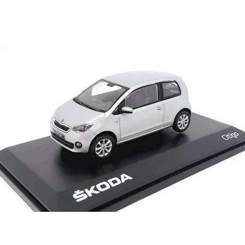 Skoda Citigo 3-deurs  zilver - Modelauto 1:43