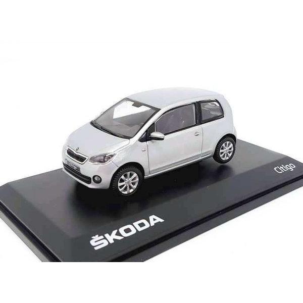 Modelauto Skoda Citigo 3-deurs  zilver 1:43   Abrex