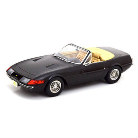KK-Scale Ferrari 365 GTS Daytona Cabrio (US-Version) 1969 zwart  - Modelauto 1:18