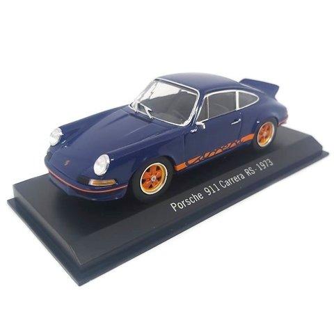 Porsche 911 Carrera RS 1973 donkerblauw - Modelauto 1:43