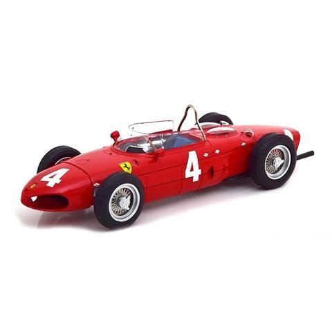 Ferrari 156 Sharknose No. 4 F1 GP England 1961 rood - Modelauto 1:18