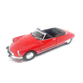 Welly Citroën DS 19 Cabriolet 1975 rood - Modelauto 1:24