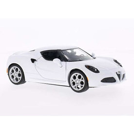 Motormax Alfa Romeo 4C wit - Modelauto 1:24