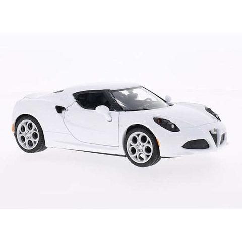 Alfa Romeo 4C wit - Modelauto 1:24
