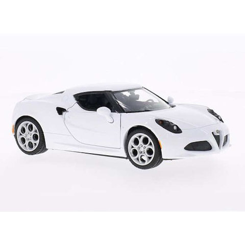 Modelauto Alfa Romeo 4C wit 1:24