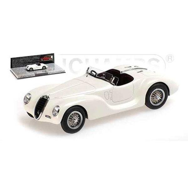 Model car Alfa Romeo 6C 2500 SS Corsa Spider 1939 white 1:43   Minichamps