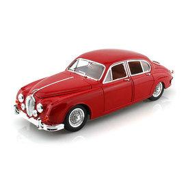 Bburago Jaguar Mk II 1959 rood - Modelauto 1:18