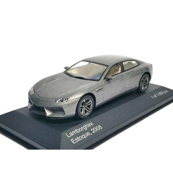 Modelauto Lamborghini Estoque 2008 grijs 1:43 | WhiteBox