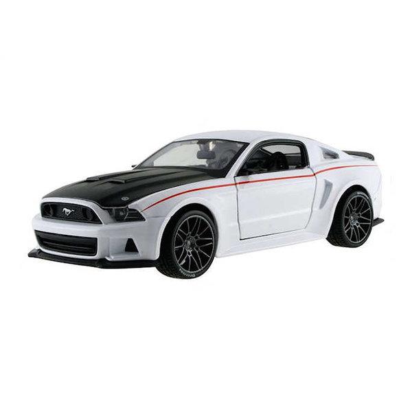 Modellauto Ford Mustang Street Racer 2014 weiß/schwarz  1:24